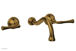 BEADED Wall Tub Set - Lever Handles 207-56 - French Brass Product Image