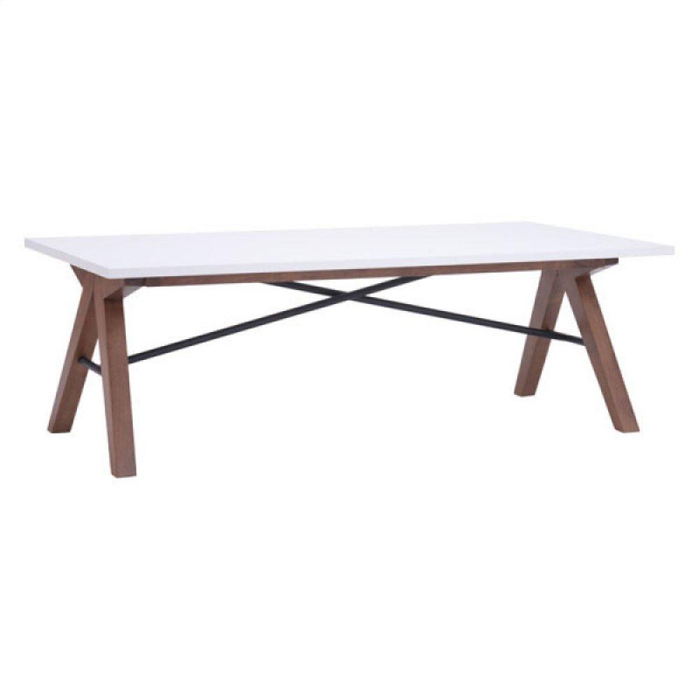 Saints Coffee Table Walnut & White