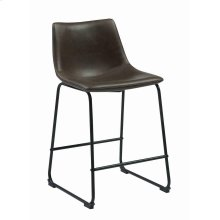 Industrial Brown Faux Leather Counter-height Stool