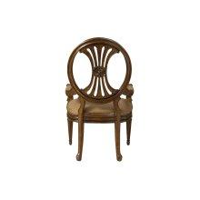 Oval Back Arm Chair