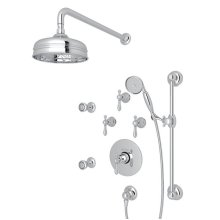 Polished Chrome Arcana Thermostatic Shower Package with Arcana Series Only Classic Metal Lever