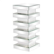 Stepped Mirror on Mirror Pedestal