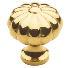 Polished Brass Melon Knob