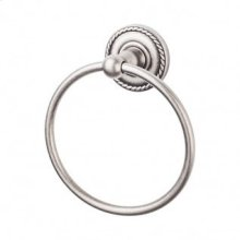 Edwardian Bath Ring Rope Backplate - Antique Pewter