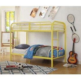 YELLOW TWIN/TWIN BUNK BED