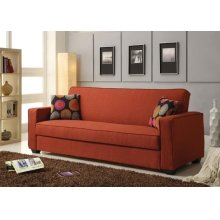 RED LINEN ADJUSTABLE SOFA @N