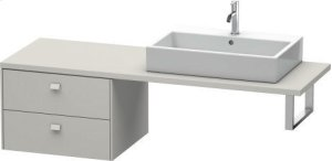 Brioso Low Cabinet For Console, Concrete Gray Matte (decor) Product Image