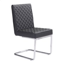 Quilt Armless Dining Chair Black