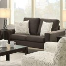 Bachman Transitional Grey Loveseat Product Image