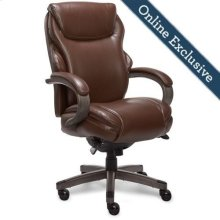 Hyland Executive Office Chair, Chestnut Brown