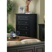 Sandy Beach Black Five-drawer Chest Product Image