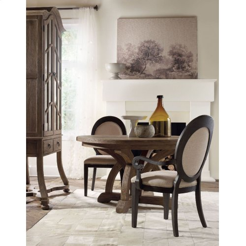 Dining Room Corsica Dark Oval Back Side Chair