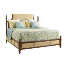 Orchid Bay Upholstered Panel Bed Queen