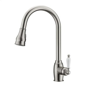 Bay Single Handle Kitchen Faucet with Single Handle 3 - Brushed Nickel Product Image