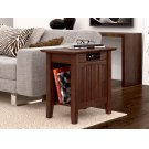 Nantucket Chair Side Table with Charger Burnt Amber Product Image