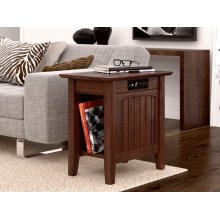 Nantucket Chair Side Table with Charger Burnt Amber