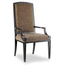 Dining Room Sanctuary Mirage Arm Chair-Ebony