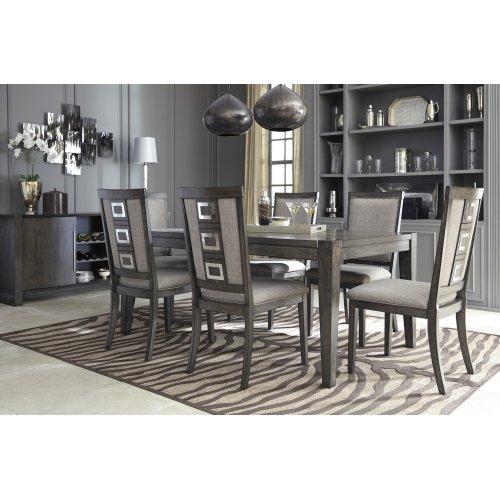 Chadoni - Gray 9 Piece Dining Room Set