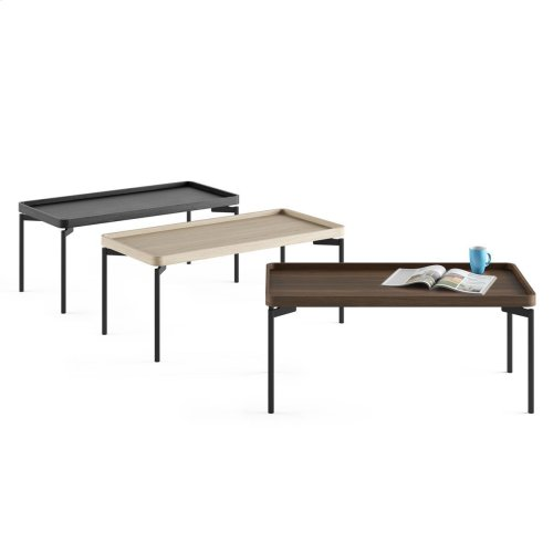 1732 Rectangular Coffee Table BDI in Charcoal Stained Ash