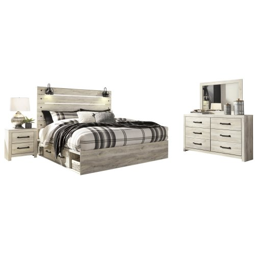 Cambeck - Whitewash 5 Piece Bed Set (King)