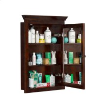 Transitional Solid Wood Framed Medicine Cabinet in Vintage Walnut