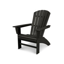 Black Nautical Curveback Adirondack Chair