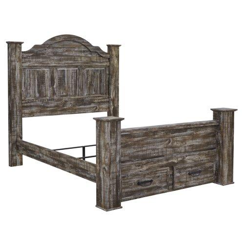 Lynnton - Rustic Brown 5 Piece Bed Set (Queen)