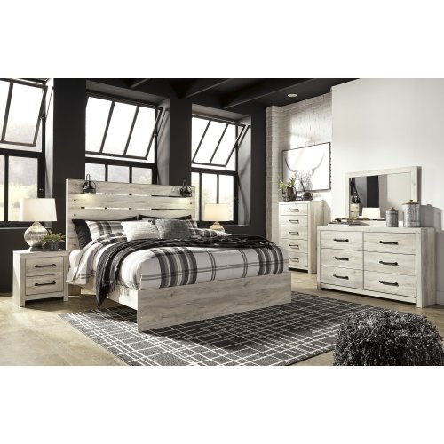 Cambeck - Whitewash 3 Piece Bed Set (King)