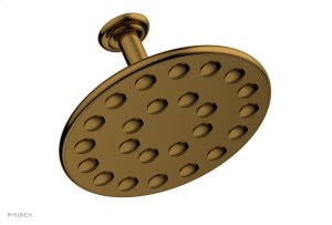 """24 Jet 10"""" Ceiling Mount Shower Head K835 - French Brass Product Image"""