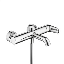 Chrome Single lever bath mixer for exposed installation