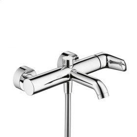 Brushed Nickel Single lever bath mixer for exposed installation