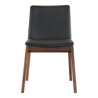 Deco Dining Chair Black Pvc-m2