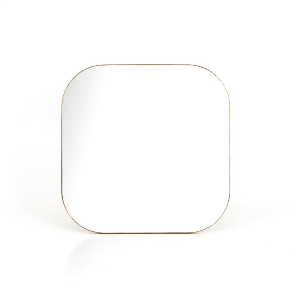 Polished Brass Finish Bellvue Square Mirror