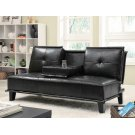 Contemporary Black Sofa Bed Product Image
