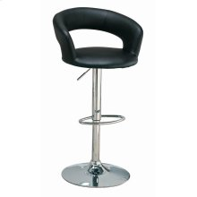 Contemporary Chrome and Black Bar Stool