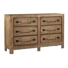 Drawer Dresser - Caramel Finish