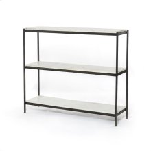 Hammered Grey Finish Felix Small Console Table