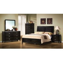 Nacey Dark Brown King Four-piece Bedroom Set