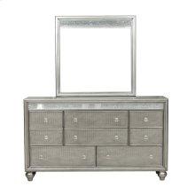 Silver Luxe Mirror Trim 8 Drawer Dresser