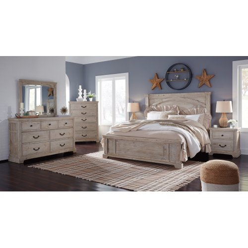 Charmyn - Whitewash 3 Piece Bed Set (King)