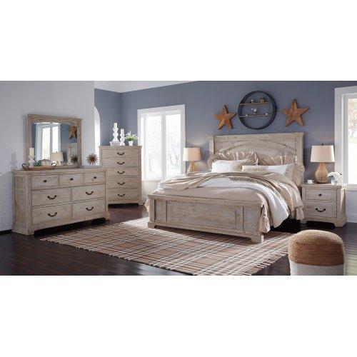 Charmyn - Whitewash 2 Piece Bedroom Set