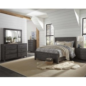 Twin Complete Bed - Charcoal Finish
