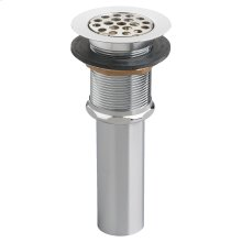 Commercial Grid Drain with Overflow - Polished Chrome