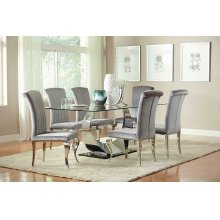 Hollywood Glam Chrome Dining Chair