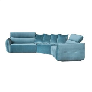 Harley Recliner Sectional Teal Grey