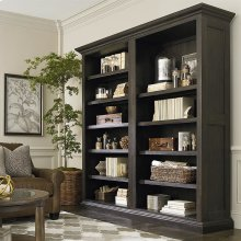 Emporium Smoked Oak Emporium Tall Single Open Bookcase