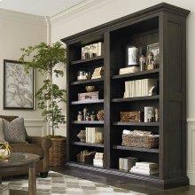 Emporium Smoked Oak Emporium Tall Single Open Bookcase