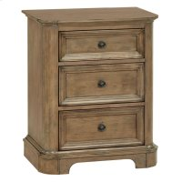 RGB 3-Drawer Stonewood Nightstand Product Image