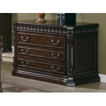 Tucker Rich Brown Three-drawer File Cabinet