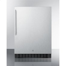 Outdoor All-refrigerator for Built-in Use, With Lock, Digital Thermostat, Thin Handle, and Stainless Steel Wrapped Exterior
